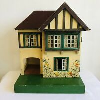 Vintage Triang 60 Dolls House On Green Platform 42cm High