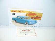 1 Stecker + Certif. Dinky Toys Atlas Repro Ref. 552, Chevrolet Corvair