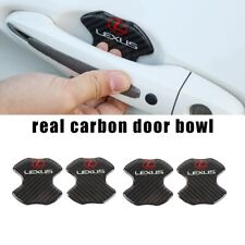 4PCS Real Carbon Anti Scratch Badge Door Handle Bowl Cover For  LEXUS
