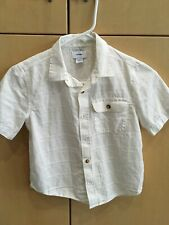 Old Navy White Cotton Short Sleeve Shirt Boys Size Small 6/7