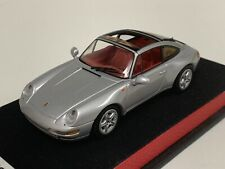 1/43 Minichamps Porsche 911 Targa ( 993 )   Silver Leather base.   A1016