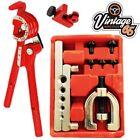 Brake Fuel Pipe Repair Tool Set Metric Af Flaring Kit Mini Bender Tube Cutter