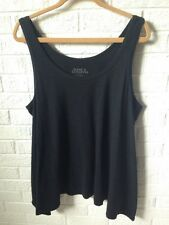 Jessica London Front Tie Black Sleeveless Top Shirt plus size 26/28 Womens Solid