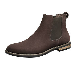 Men's  Ankle Boots Slip-on Chelsea Boot Casual Dress Suede Leather Comfort Shoes
