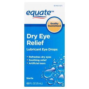 Equate Lubricant Eye Drops for Dry Eye Relief, 0.5 fl oz - Burn Dry Eyes Vision+