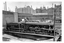 pt1890 - LNER Train on Turntable , Kings Cross , London - photograph 6x4