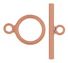1 STERLING SILVER STRONG TOGGLE CLASP, MEDIUM SIZE, 14 X 19 MM, ROSE GOLD PLATED