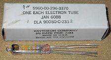 + 1 NOS/NIB Raytheon JAN 6088 Subminiture Tube Silver Plate Foil D Getter 6088