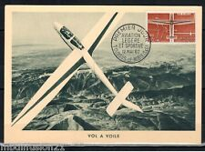 1962 - FDC CARTE  1°JOUR - AVIATION - VOL A VOILE.TOUSSUS  - TIMBRE Yt.1340