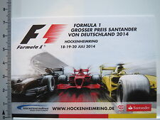Decal Sticker Hockenheim Formula 1 Grand Prix Santander 2014 (5439)