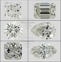 Loose Moissanite Stone Fancy Shape Radiant Oval Princess Pear Emerald Round cut