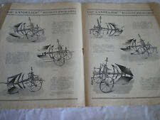 Vintage Catalogue c1920s andelier Plough maker agricultural machinery