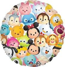 """SET OF TWO Disney TSUM TSUM Balloons New in Package 17"""" Round Mylar FREE SHIP"""