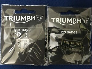 Triumph Motorcycle Set of 2 Pin Badges