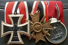 ✚8529✚ German mounted medals post WW2 1957 pattern Iron Cross Eastern Front ST&L
