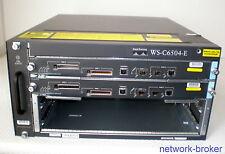 Cisco Switch Bundle WS-C6504-E +2 x  WS-SUP720-3B Redundante SE Fan Tray  2x PSU