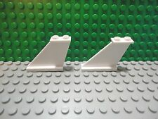 Lego 2 White medium airplane tail part 1x4x3 wing support airplane NEW