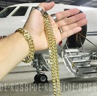 Mens Miami Cuban Link Chain SOLID HEAVY 18K GOLD P Made Italy *LIFETIME WARRANTY