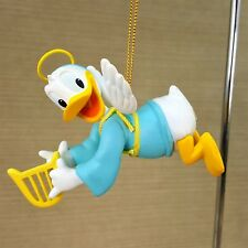 "Disney Donald Duck Angel 3.5"" Ornament w/ Harp Wings & Halo"