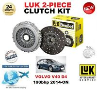 FOR VOLVO V40 HATCHBACK D4 CLUTCH KIT 190 BHP 2014-ON LUK 2 PIECE EO QUALITY
