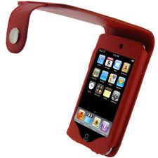 Rojo Cuero Pu Funda Para Apple Ipod Touch 2nd 3rd Gen 2g 3g Itouch Tapa Soporte