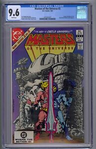 MASTERS OF THE UNIVERSE #2 CGC 9.6  ORIGIN OF HE-MAN/CERIL WHITE PAGES!!!!