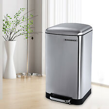 SONGMICS Mülleimer küche 30 L Abfalleimer Treteimer Abfallsammler LTB01L