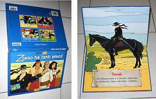 Libro Pop-Up ZORRO HA TANTI AMICI EdiCart 2005 Serie Cartoni Tv 3D