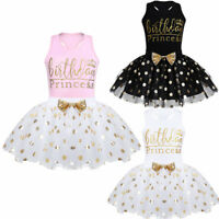 Toddlers Baby Girl Kid Birthday Party Princess Outfit Bow Tutu Skirt Dress Set