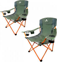 NEW 2 Pack Trail Quad Folding Camp Chair Seat Beach Tailgate Outdoor Camping