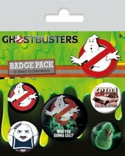 SOS Fantômes pack 5 badges Who You Gonna Call badge pack Ghostbusters 805498