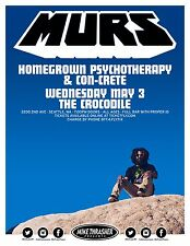 Murs / Homegrown Psychotherapy/Con-Crete 2017 Seattle Concert Tour Poster-Hip
