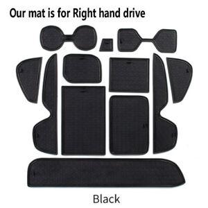 Gate Slot Pad fits 2019-2021 Toyota RAV4 Rubber Non-slip Cup Holder Mats