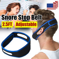Blue Snore Stop Belt Anti Snoring Cpap Chin Strap Sleep Apnea Jaw Solution TMJ