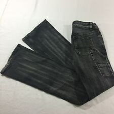 Button Fly Sexy & Low Black Paintbrush Wash Jeans Size 2 R Express Super Tilt