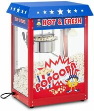 More details for royal catering professional hot & fresh popcorn maker 16 l blue red 1.600 w