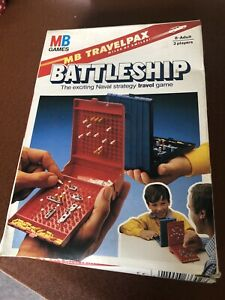 Vintage MB Games Travel Battleship 1982 family fun