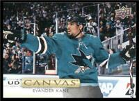 2019-20 Upper Deck UD Canvas #C74 Evander Kane - San Jose Sharks