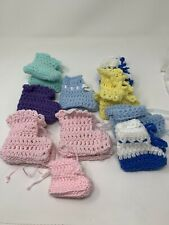 Baby Booties~Crochet~Handmade~10 Sets~Fits 0 Months to 1 Year