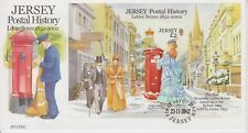 Unaddressed Jersey FDC First Day Cover 2002 Letter Boxes Postal History Sheet
