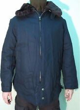 Russian Army Pilot Jacket Air Forces Warm for Cold Weather Dark Blue/Black