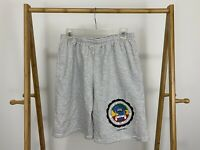 VTG University of African Americans Crest Striped 50/50 Casual Shorts XXL USA