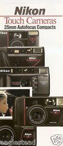 Camera Brochure - Nikon -  Touch One 100 Tele Zoom - 1990-91 - 4 items (CB63)