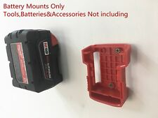5Red Battery Mount for Milwaukee M18 18v Storage Holder Shelf Rack Stand Slots