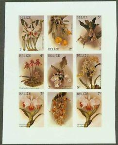 Belize 1987 Orchids 1c-7c COMPOSITE MASTER PROOF SHEET