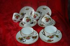 ROYAL WORCESTER EVESHAM GOLD  6 COFFEE CUPS AND SAUCERS VGC