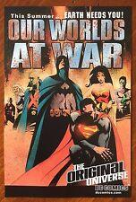 Our Worlds At War (2001) Comics Checklist Promo Card - Batman & Dc Comics