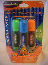 NEW BANZAI  COLOR STREAM BLASTER (JET CARTRIDGE) REFILL PACK # 31999