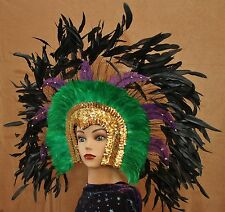 HM113 Hand Crafted Feather Mask