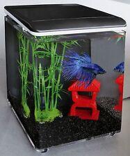 SF Home 8 Miniaquarium mit LED Beleuchtung,Nanoaquarium schwarz